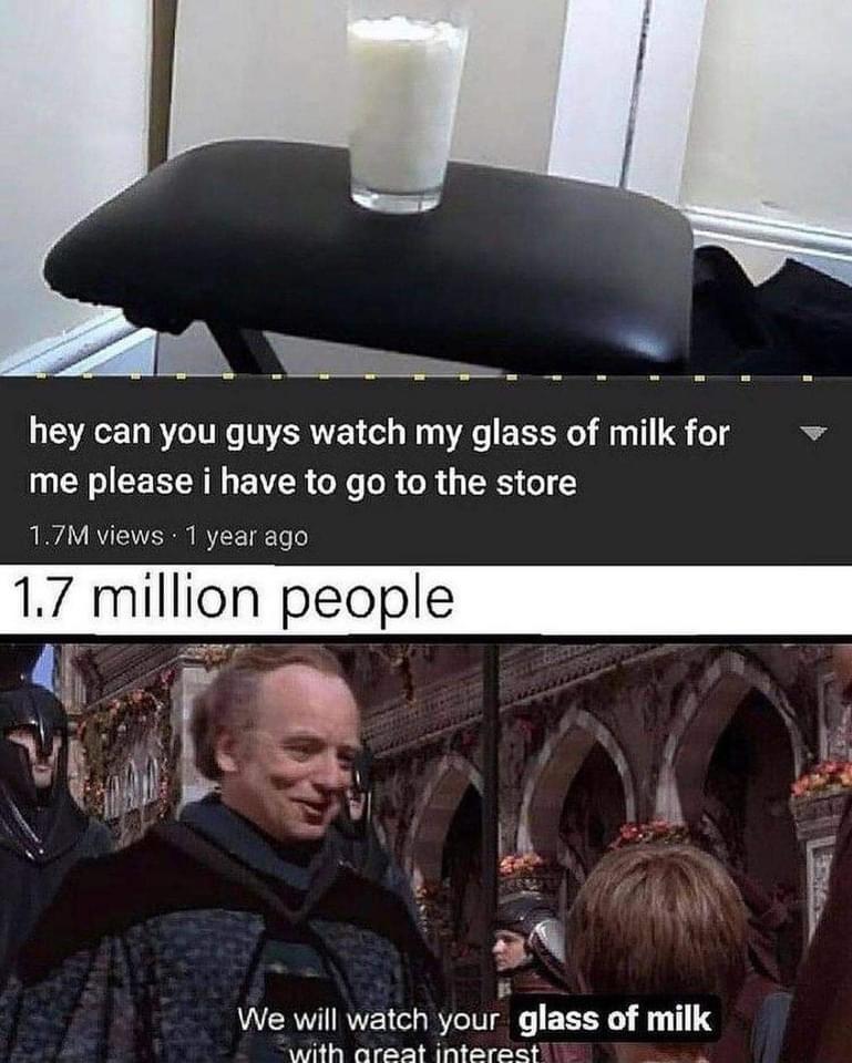 Memes Glass of milk