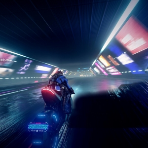 Astral Chain motorcycle chase Nintendo Switch