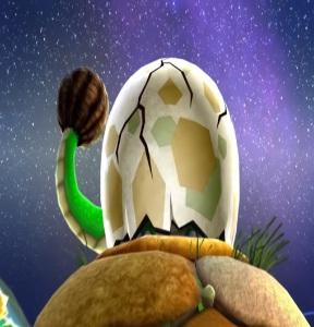 Dino piranha Super Mario Galaxy Nintendo Wii egg