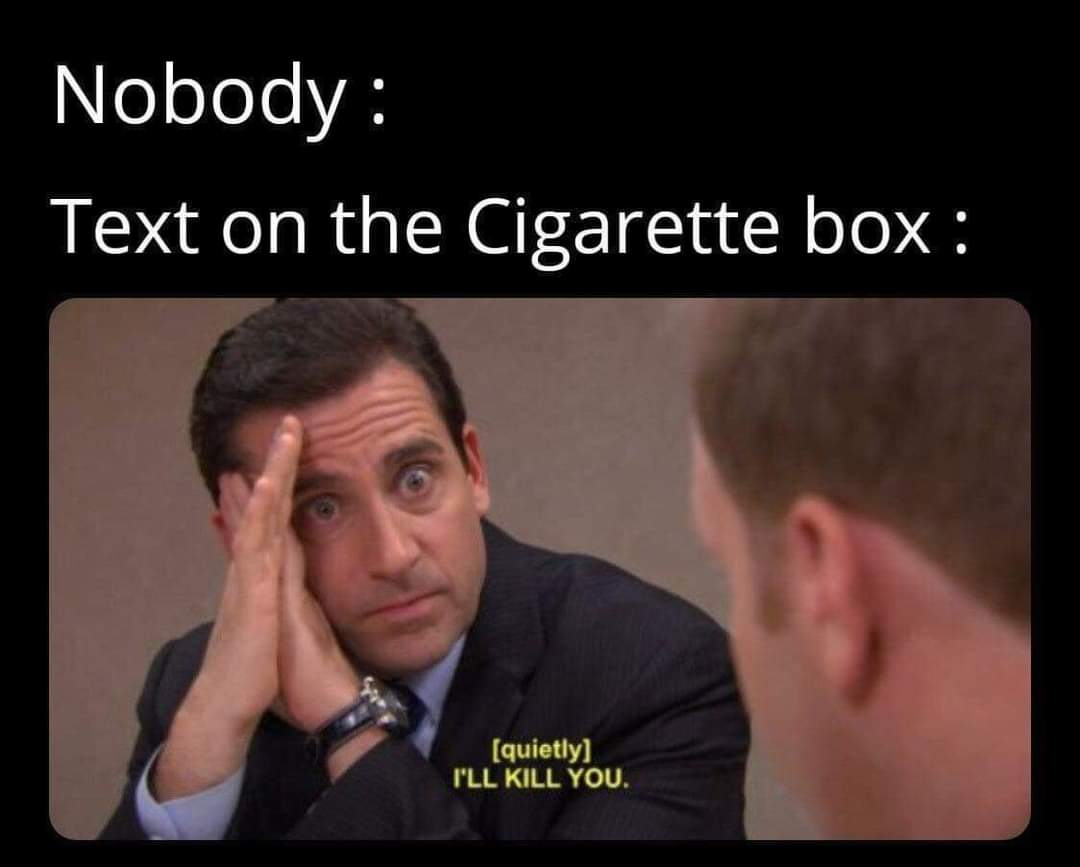 Memes Cigarette box warnings