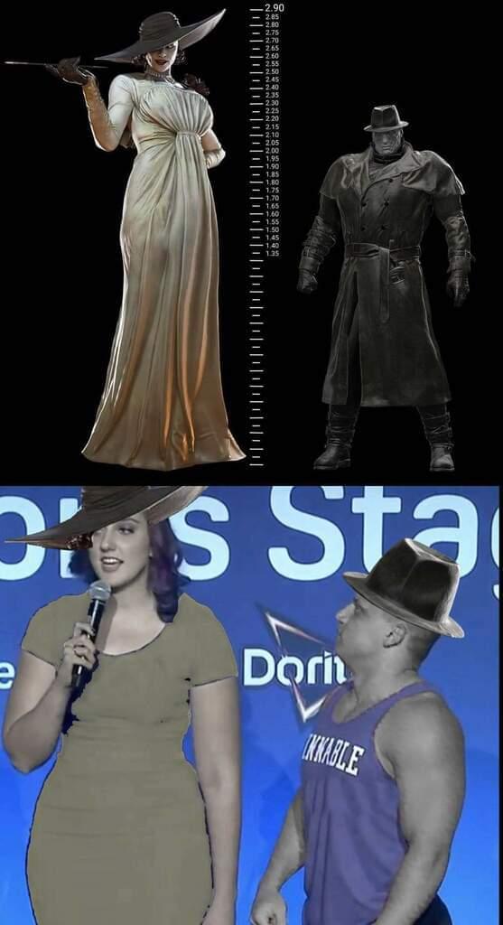 Memes Resident evil giant vampire lady Mr. X