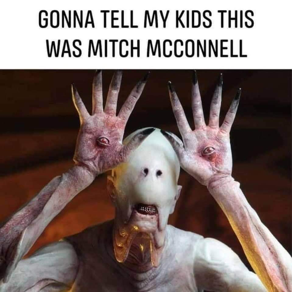 Memes Pans labyrinth monster Mitch McConnell