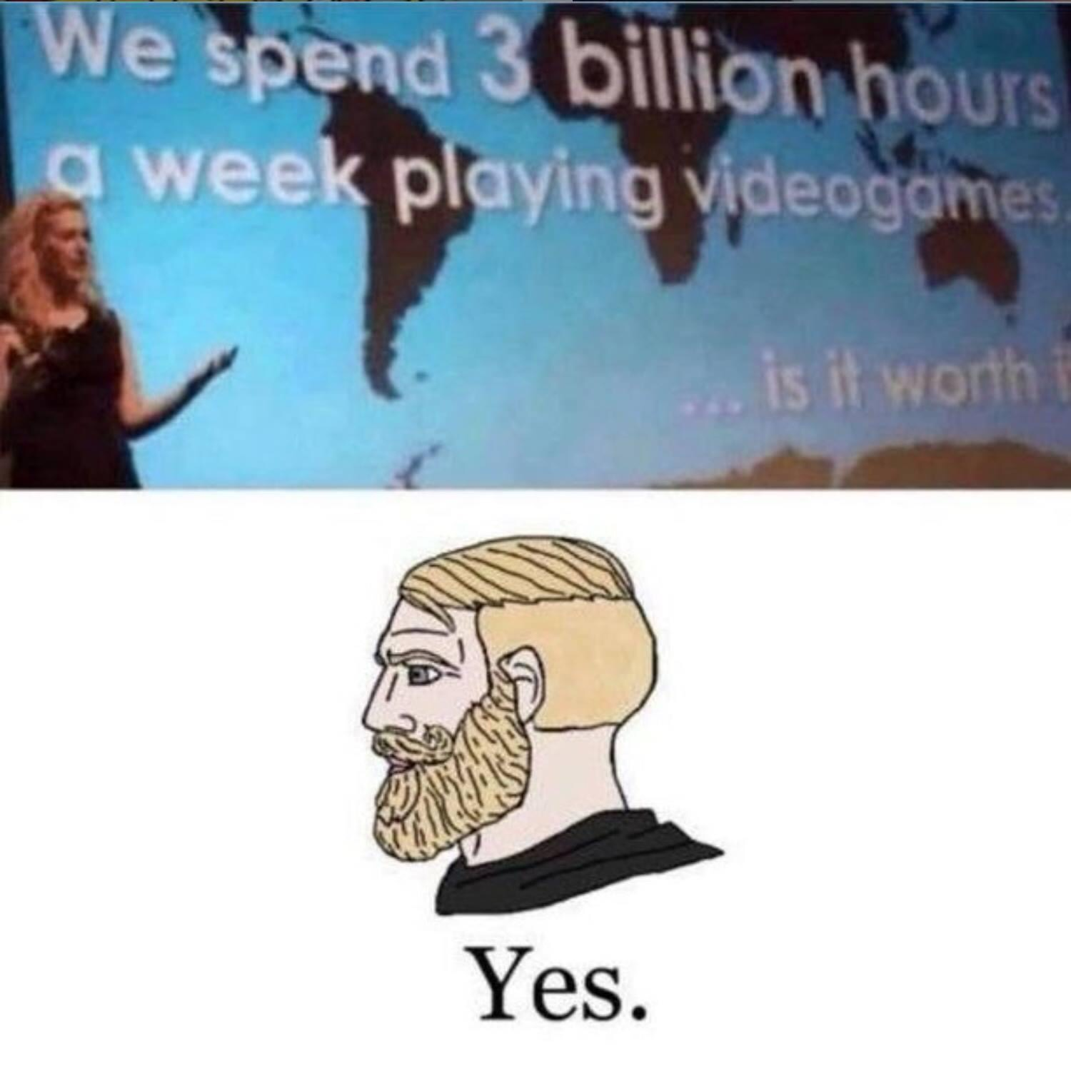 Memes 3 billion hours playing video games