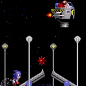 Sonic vs Dr robotnik Star Light Zone boss sonic the Hedgehog 1 Sega genesis Sega mega drive