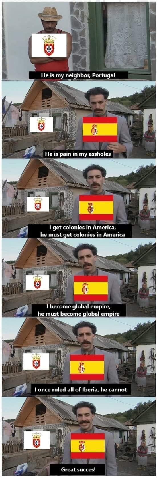 Memes Borat Spain versus Portugal
