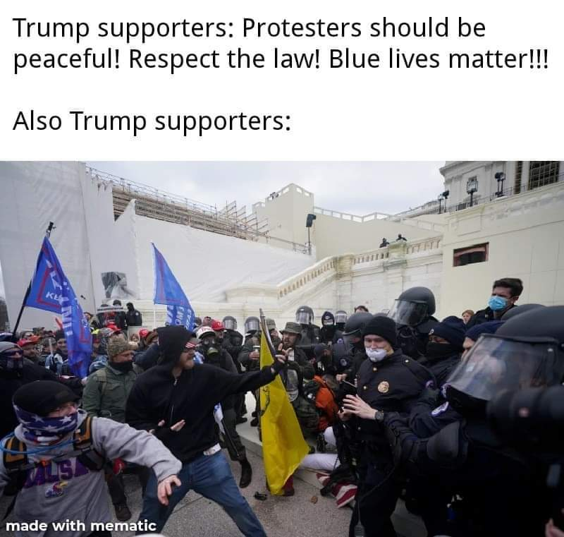 Memes  Donald Trump supporters Washington DC versus the police