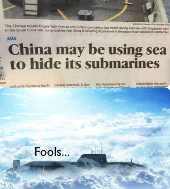Memes China hiding submarines in Ocean