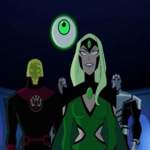 Justice League vs. the Fatal Five Emerald Empress Validus Persuader Tharok