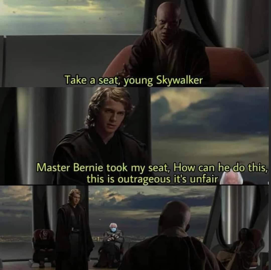Memes Star Wars revenge of the Sith Anakin Skywalker Bernie Sanders