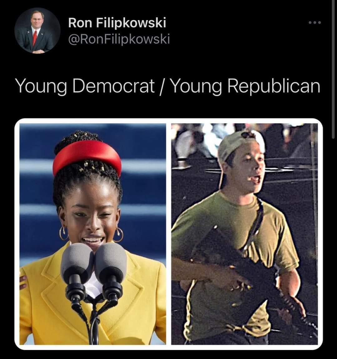 Memes  Young Democrat versus young Republican