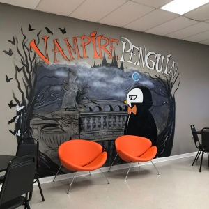 Vampire Penguin Mural Powdersville South Carolina