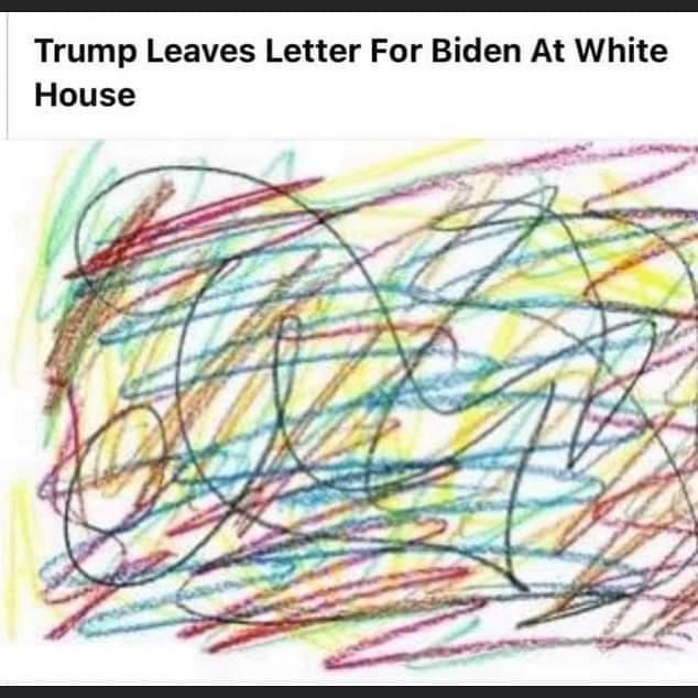 Memes Donald Trump White House letter crayon