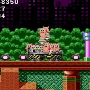 Freed animals pigs and chickens Spring Yard Zone boss sonic the Hedgehog 1 Sega genesis Sega mega drive