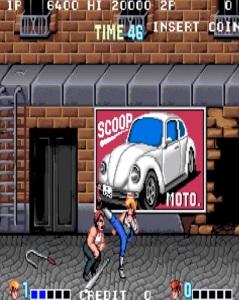 Kicking thug double Dragon arcade version