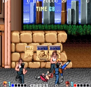 Street fight double Dragon arcade version