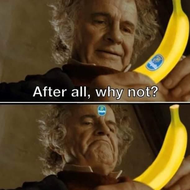 Memes Sticker on the banana