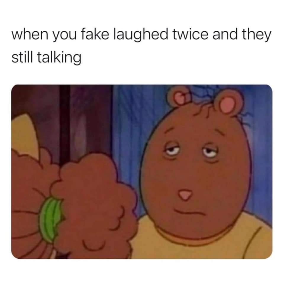 Memes Fake laughing at customers