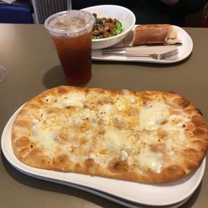 Panera Bread flatbread pizza cheese