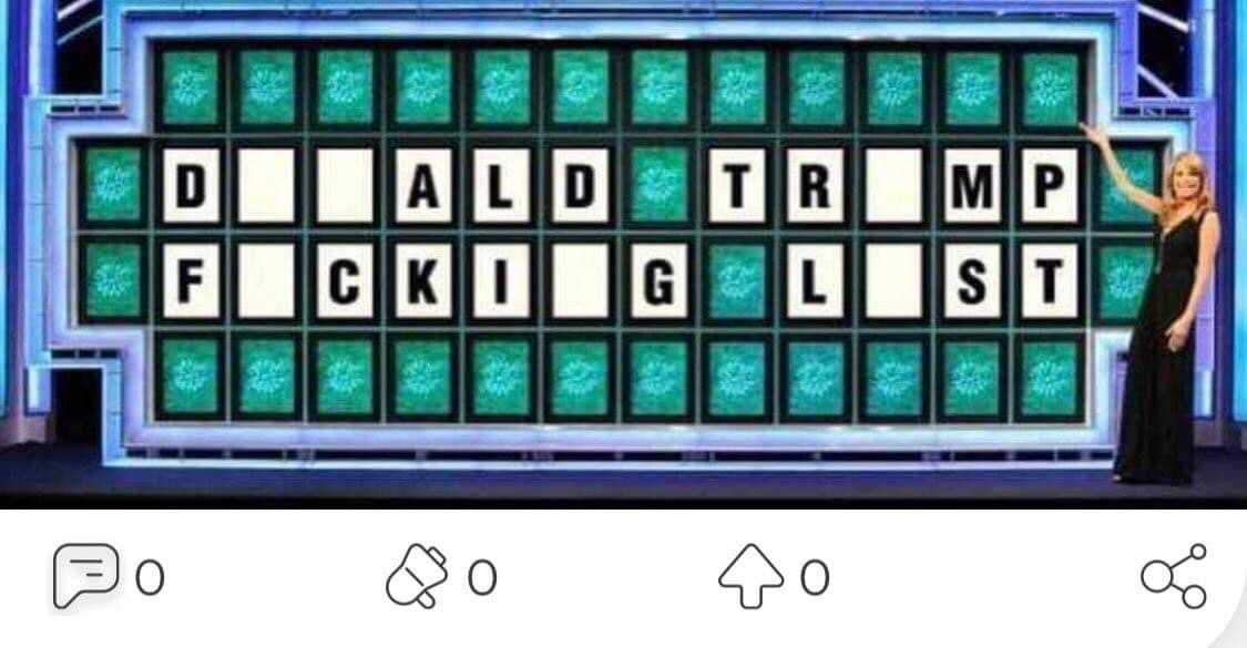 Memes Donald Trump lost wheel of fortune