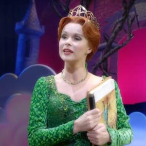 Shrek the musical Princess Fiona singing red hair green dress