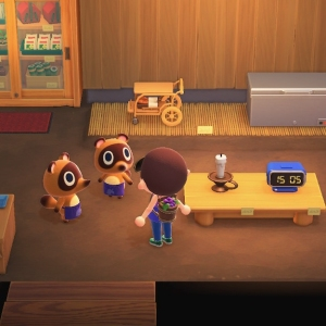 Animal crossing new Horizons Timmy and Tommy nook shop Nintendo Switch