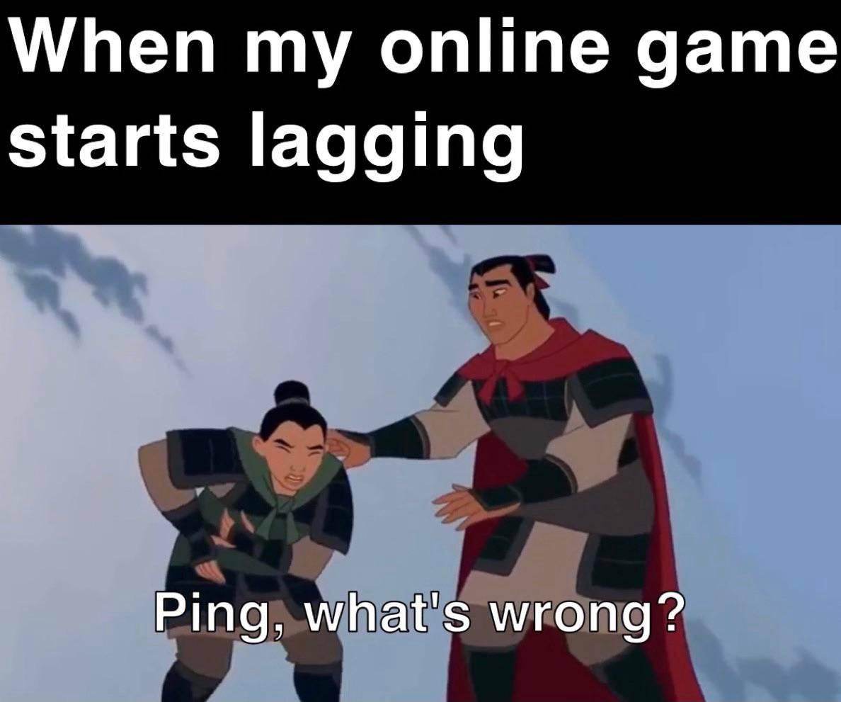 Memes Online gaming lag