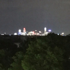 Charlotte north Carolina at night