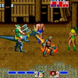Blue dragon breathing fire golden axe Sega genesis arcade Sega mega drive