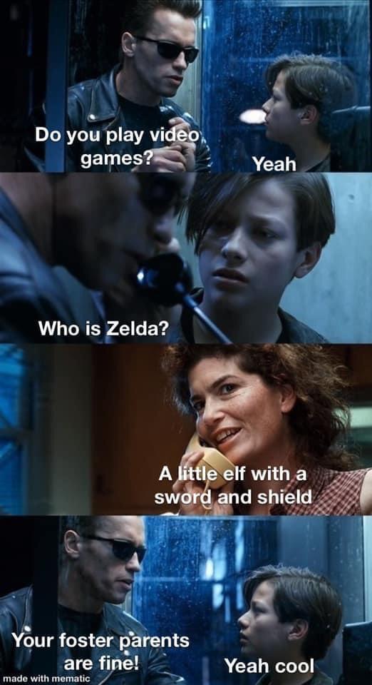 Memes Calling link Zelda