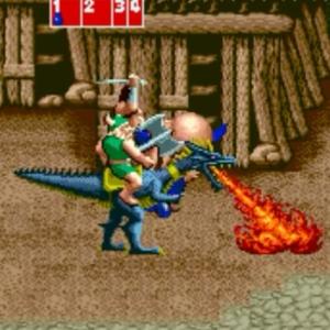 Blue dragon Gilius Thunderhead golden axe Sega genesis arcade Sega mega drive