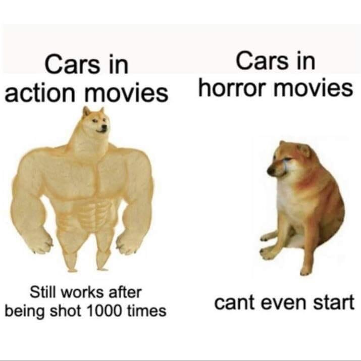 Memes Cars in horror movies