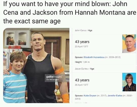 John cena hannah montana meme