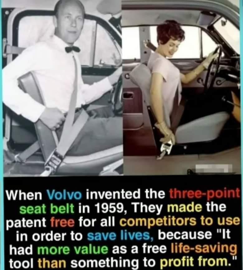 Memes Volvo invented the seatbelt