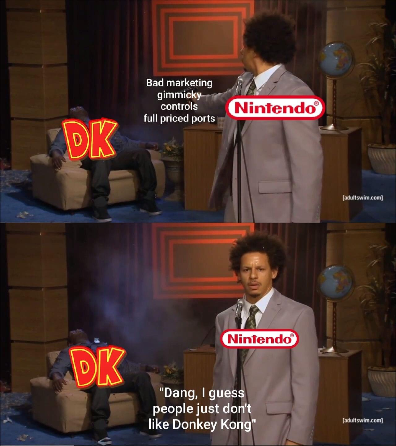 Memes Nintendo support for donkey Kong