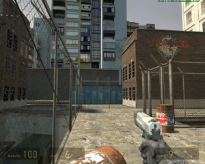 Pistol flammable barrel half life 2 Xbox valve