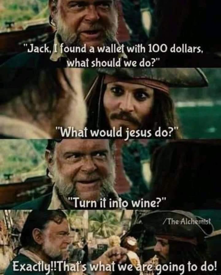 Memes Jesus turning water into wine