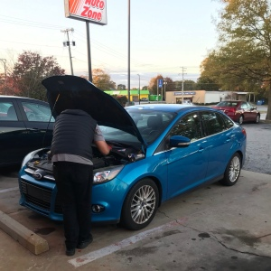 Car battery replaced at AutoZone 2014 Ford focus Greer South Carolina