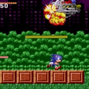 Sonic vs Spring Yard Zone boss sonic the Hedgehog 1 Sega genesis Sega mega drive