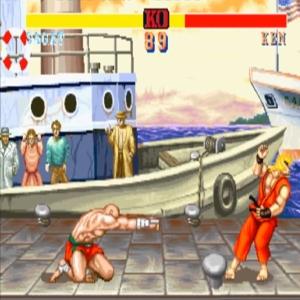 Sagat VS Ken Masters street fighter II snes arcade Capcom
