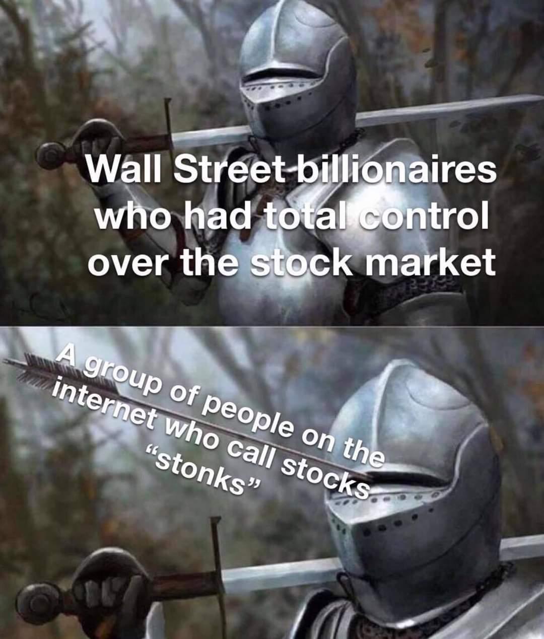 Memes Wall Street billionaires versus reddit
