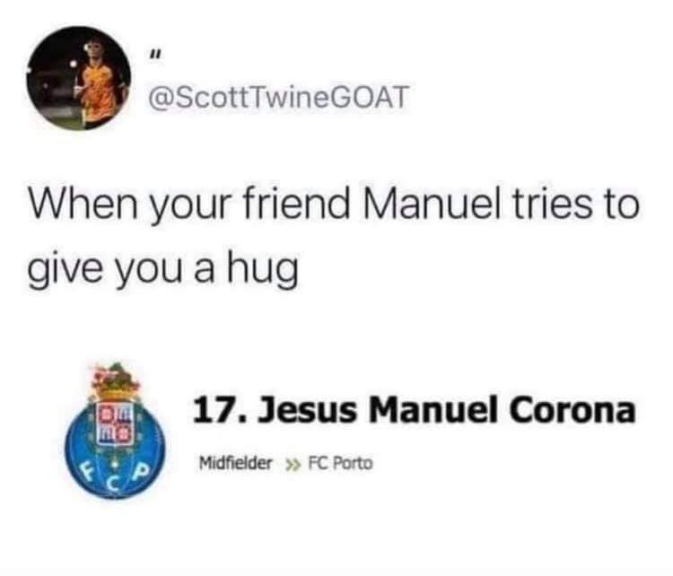 Memes Corona COVID-19 getting hugs