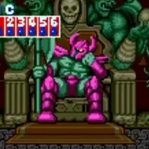Death Bringer sitting on throne golden axe Sega genesis Sega mega drive