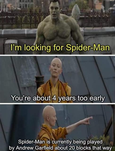 Memes The hulk and Spiderman