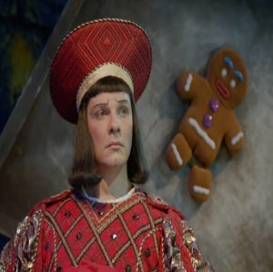 Shrek the musical Lord farquad and gingerbread man