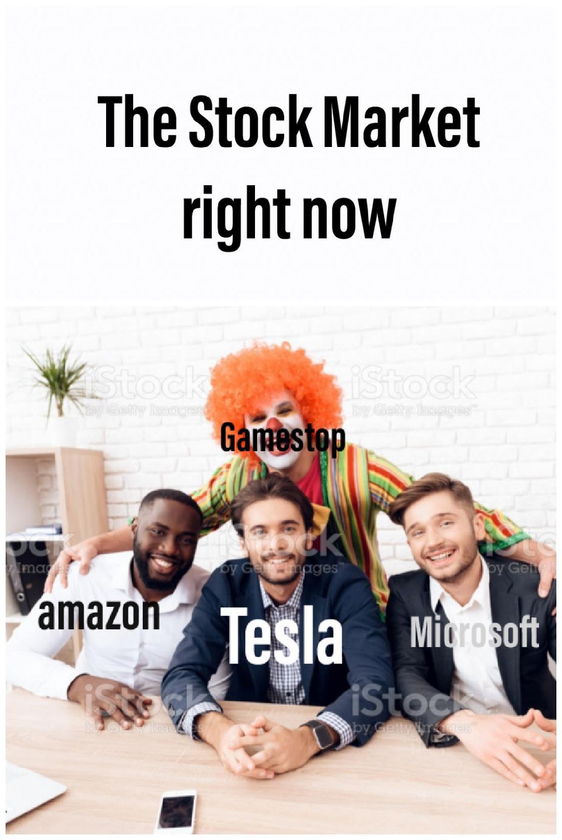 Memes GameStop stock market
