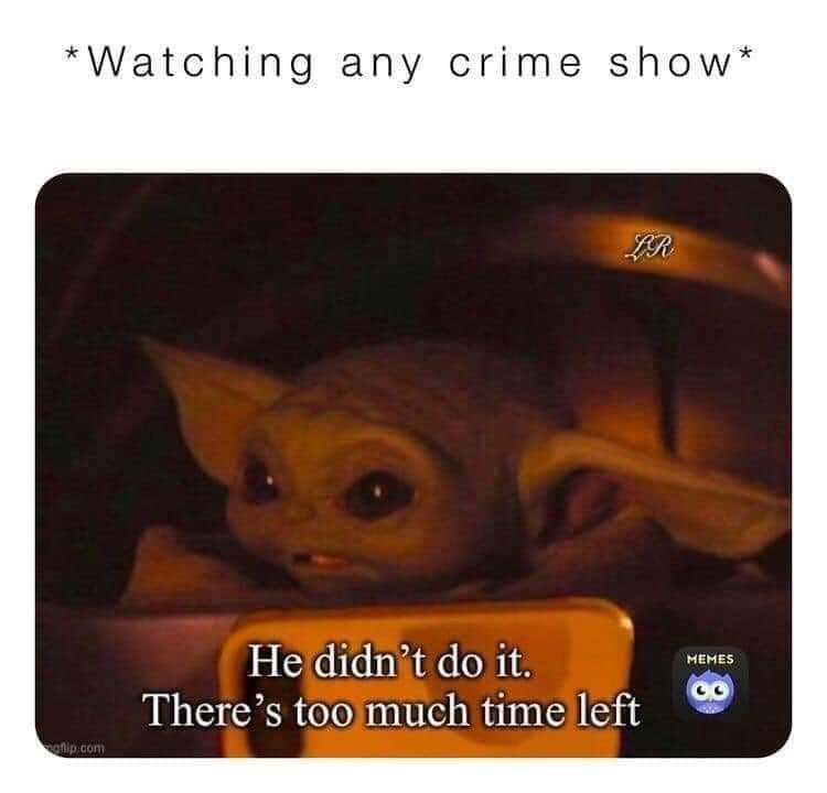 Memes Watching a crime show documentary