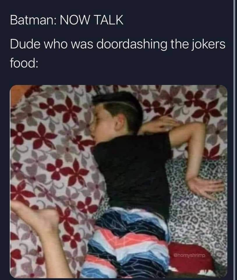 Memes doordash driver to Joker Batman