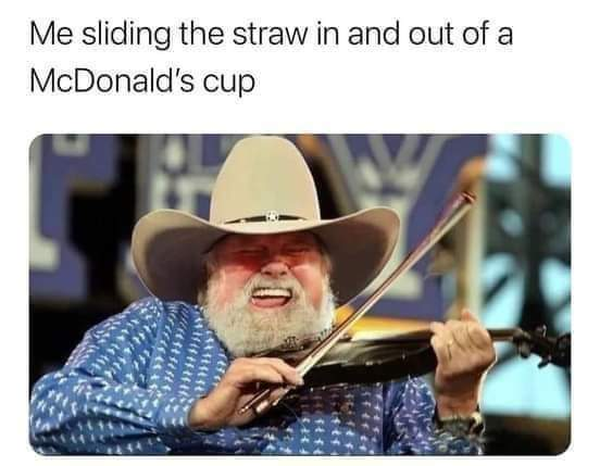 Memes Straw in McDonald's cup