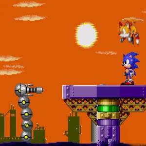 Sonic and tails vs Submarine Eggman II  Sonic the Hedgehog 2 Sega genesis Sega mega drive