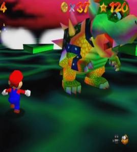 Bowser Final boss battle Super Mario 64 Nintendo 64 N64
